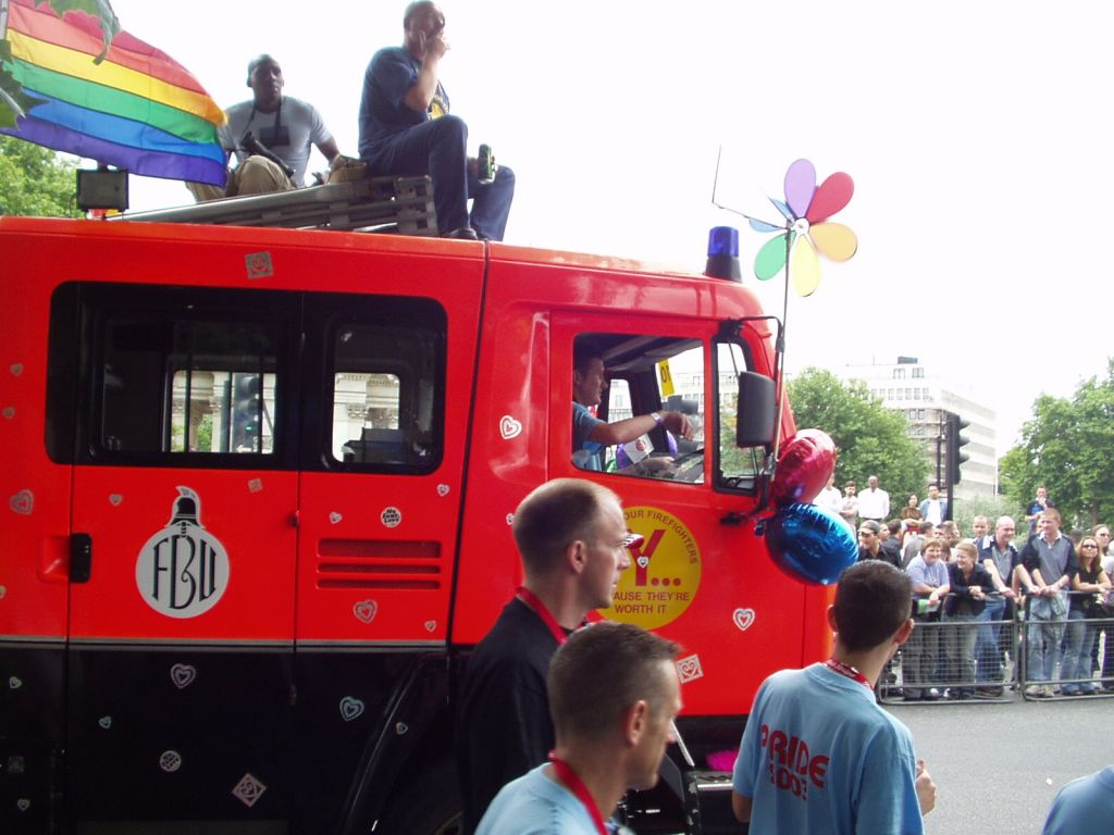 FBU members on a gay pride event
